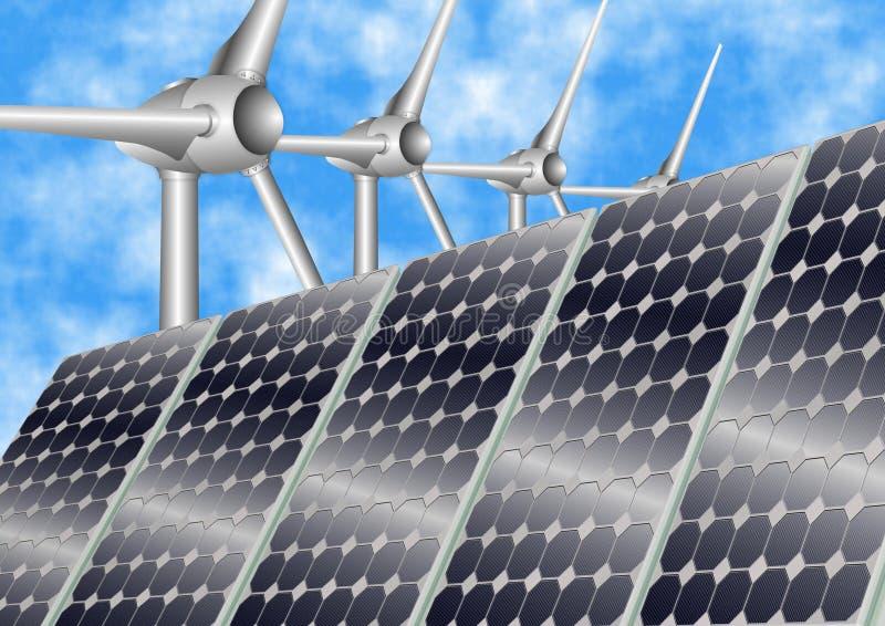 energia odnawialna royalty ilustracja