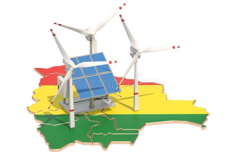Energia odnawialna i podtrzymywalny rozwój w Boliwia, pojęcie ilustracji