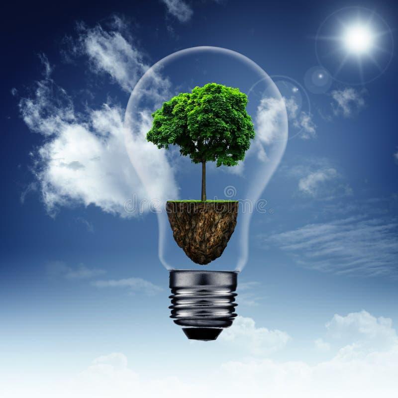 Energia - oszczędzania i eco tła royalty ilustracja