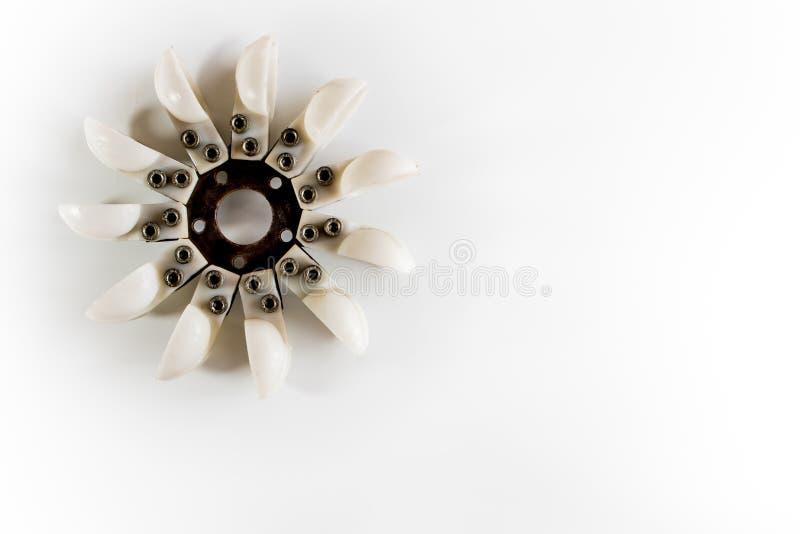Energia rinnovabile della turbina dell'acqua di Pelton fotografia stock libera da diritti