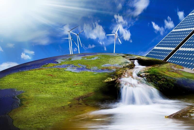 Energia rinnovabile ed ambiente immagini stock libere da diritti