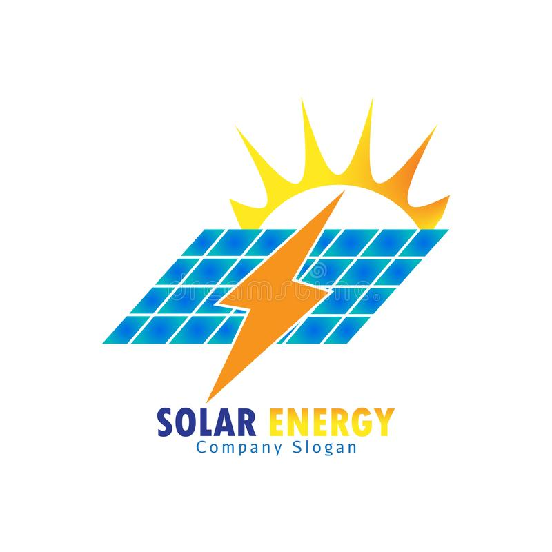 Energia słoneczna dla energii odnawialnej ilustracja wektor