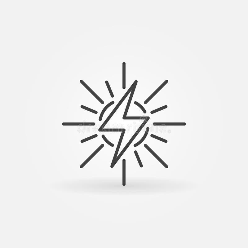 Energia słoneczna konturu ikona royalty ilustracja