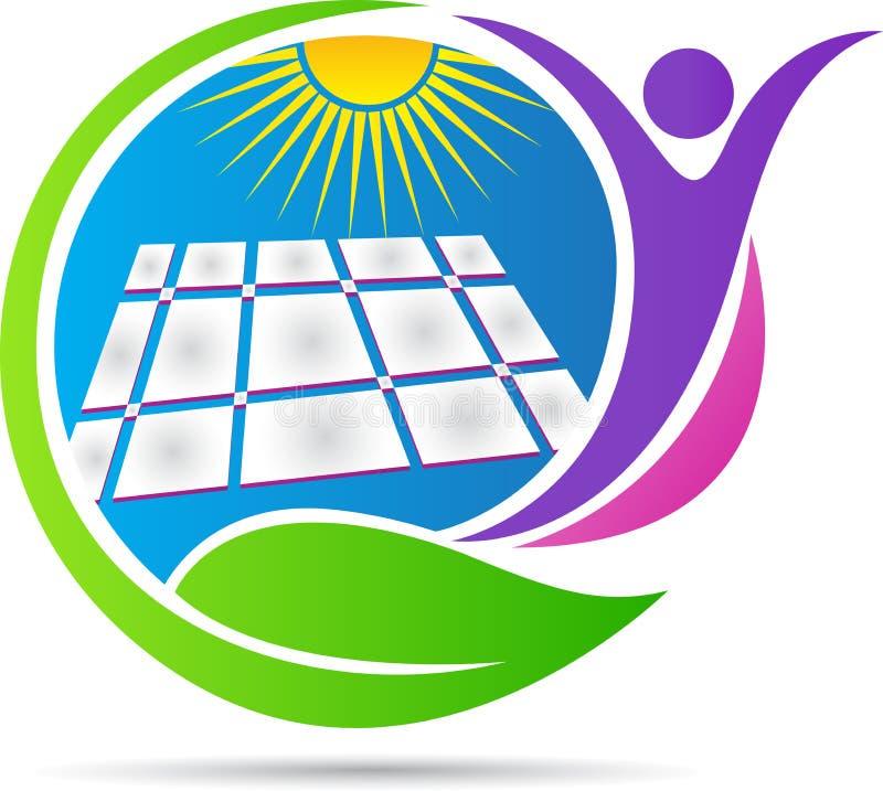 Energia słoneczna logo royalty ilustracja