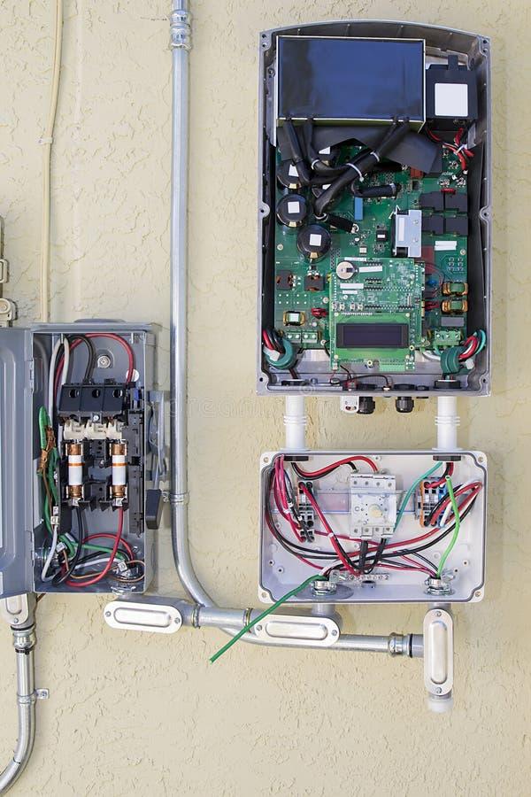 Energia Słoneczna przekształtnika system zdjęcie royalty free