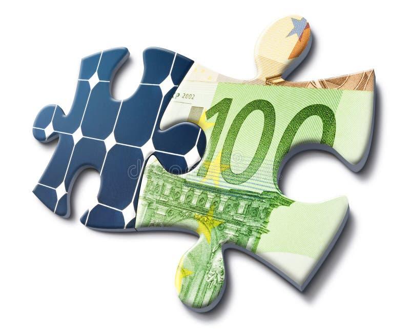 A energia solar é economia do dinheiro fotos de stock