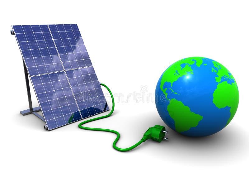 Energia solar ilustração do vetor