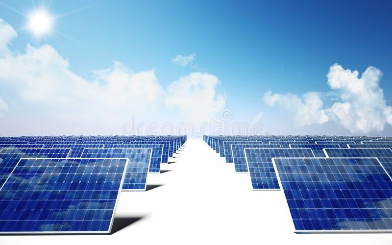 Energia solar ilustração stock