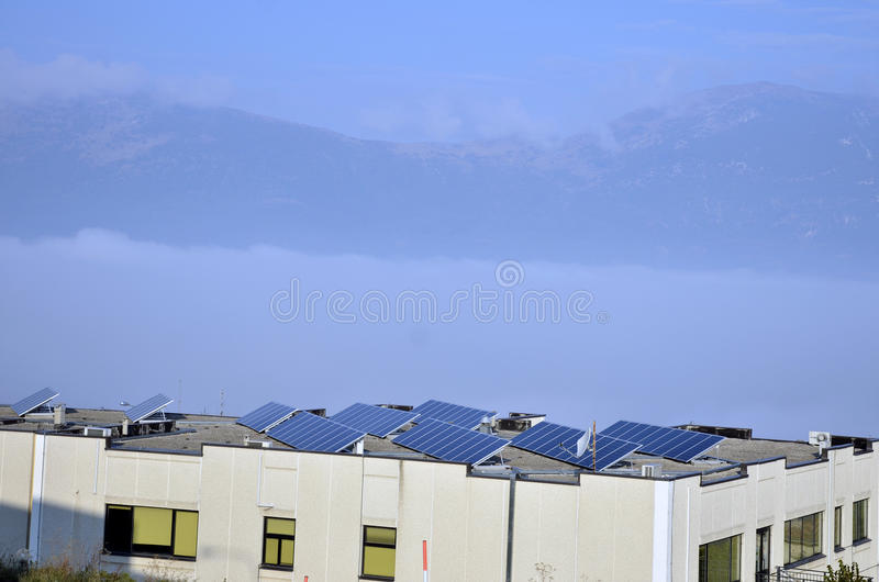 Energia solar do céu fotos de stock royalty free
