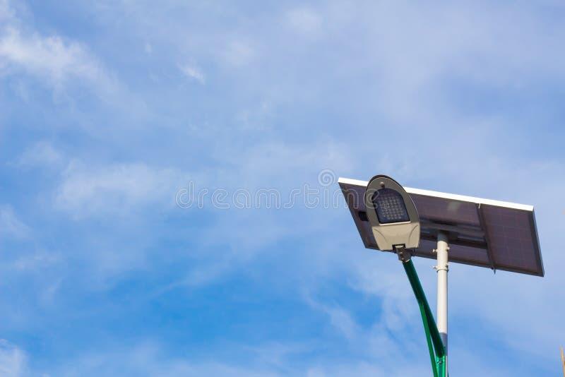 Energia solare e cielo fotografia stock
