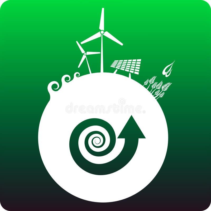Energia sustentável ilustração do vetor