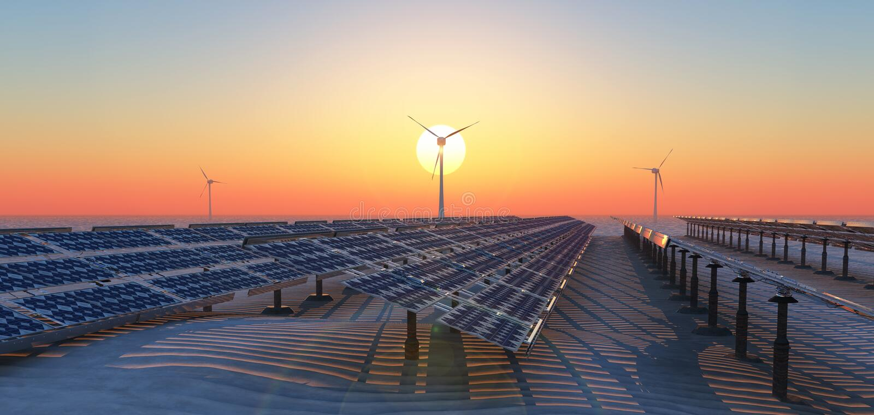 Energia sustentável foto de stock royalty free