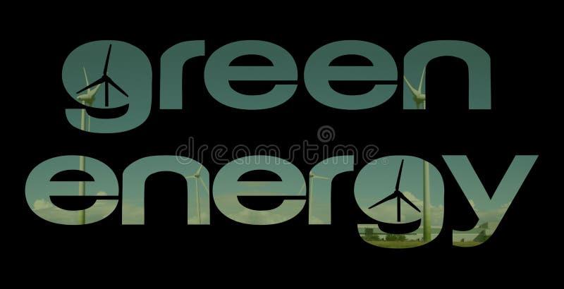 energia tekstu zielone turbiny ilustracji