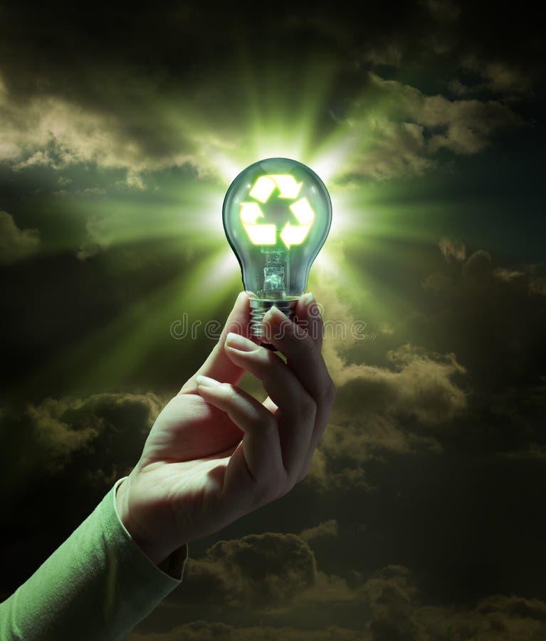 Energia verde da ideia - recicle o conceito foto de stock royalty free
