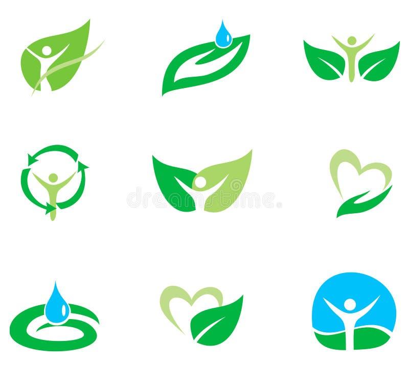 Energia verde, insieme organico illustrazione vettoriale