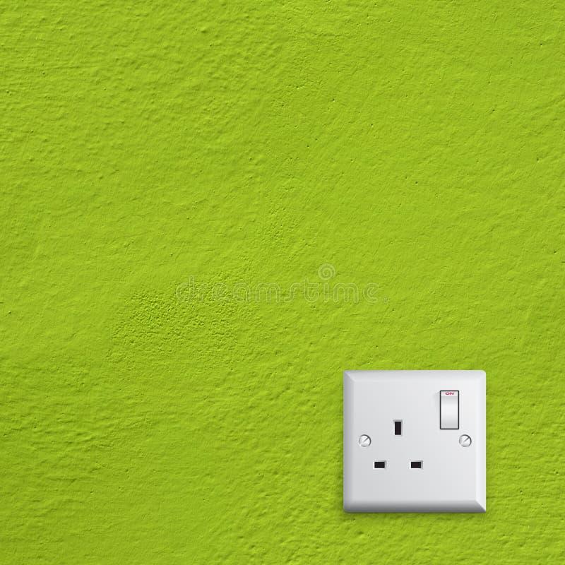 Energia verde nell'incavo elettrico della Gran Bretagna fotografia stock