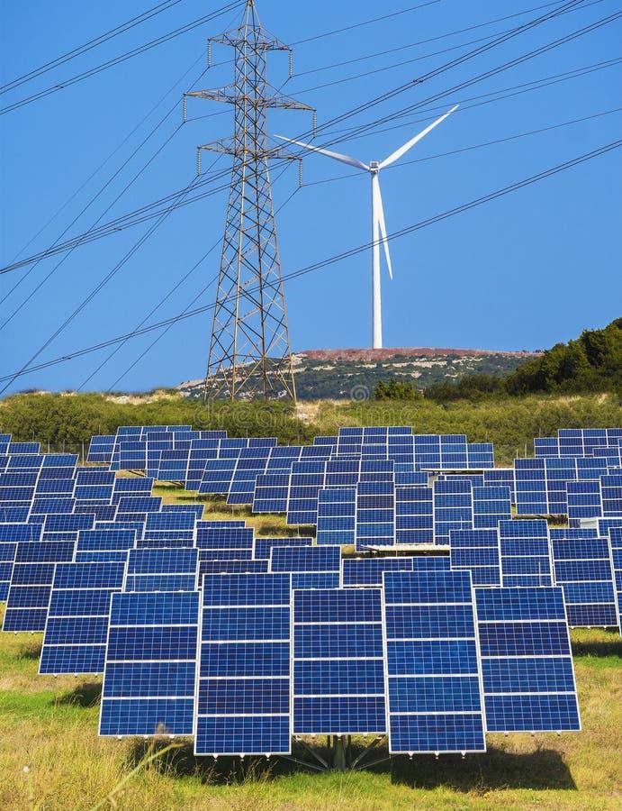 Energia verde rinnovabile fotografie stock libere da diritti