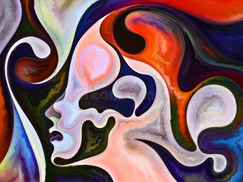 Energia Wewn?trzni kolory royalty ilustracja