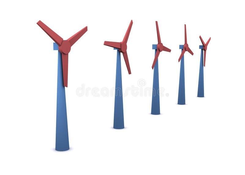 energia wiatru ilustracji