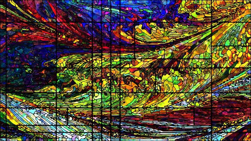 Energia witraż ilustracja wektor