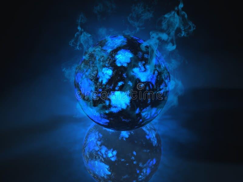 energia wypełniająca rozjarzona przedmiota sfera royalty ilustracja