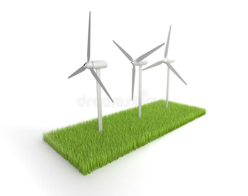 Energias eólicas ilustração stock