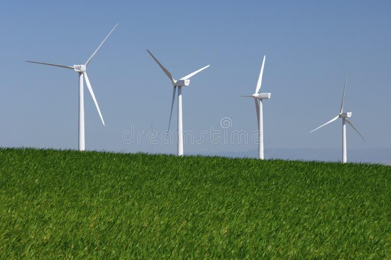 Energias eólicas imagens de stock