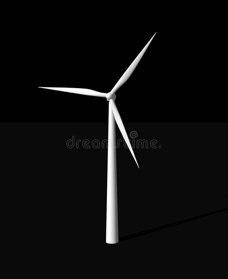 Energias eólicas ilustração royalty free