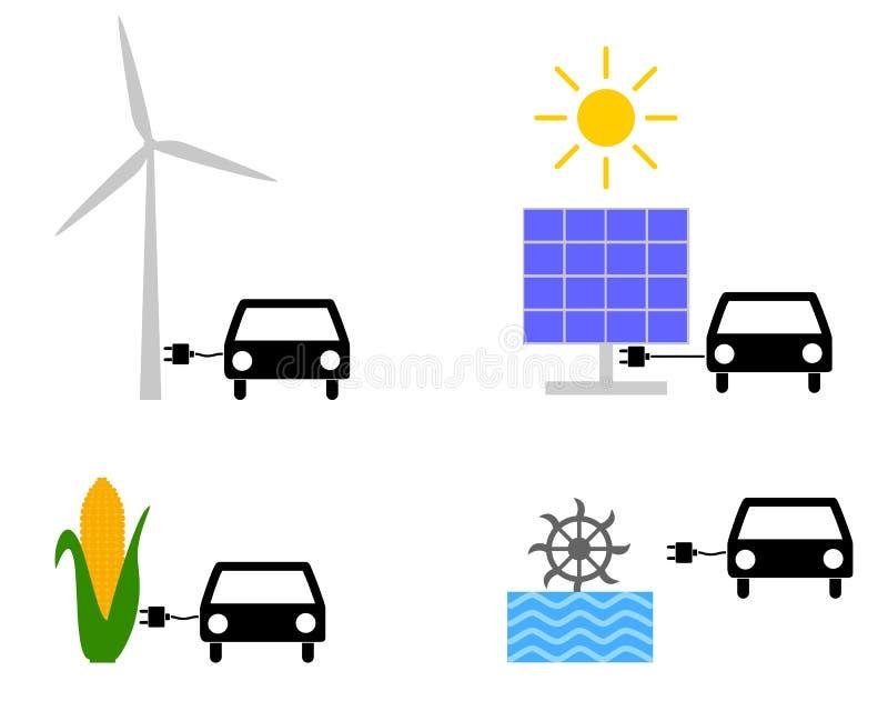 Energias renováveis como o combustível ilustração stock