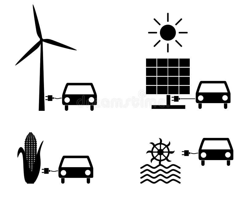 Energias renov?veis como o combust?vel ilustração stock