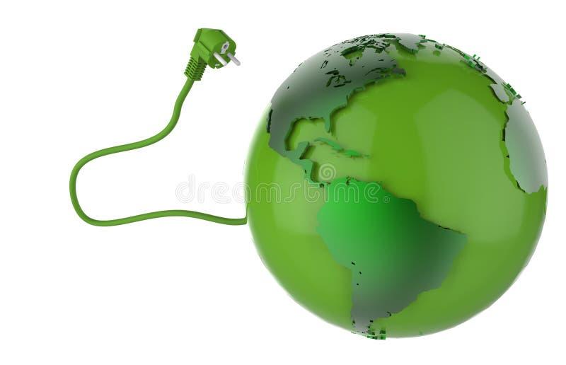 Energias verdes da terra ilustração do vetor