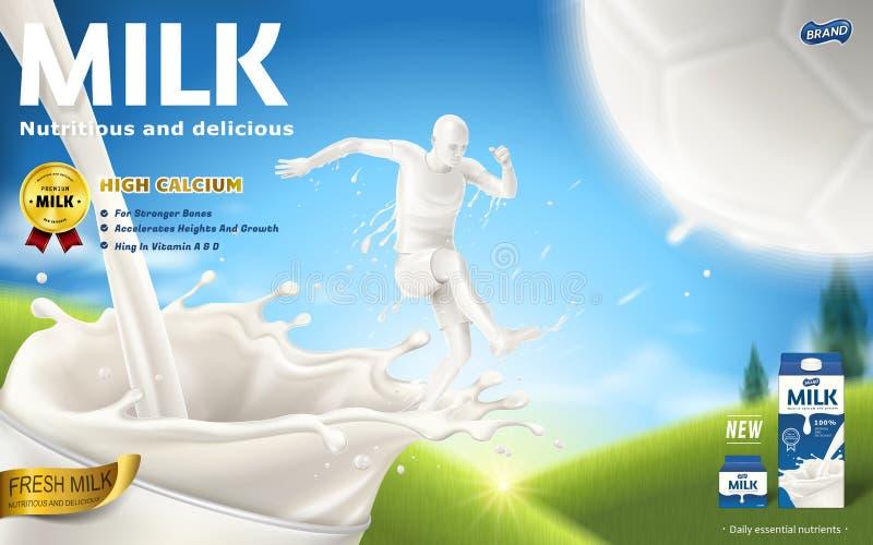 Energiczne dojne reklamy ilustracja wektor