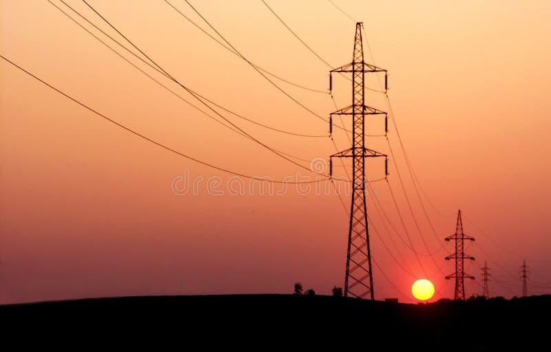 Download Energie stockfoto. Bild von orange, sonne, zeilen, sonnenuntergang - 25712