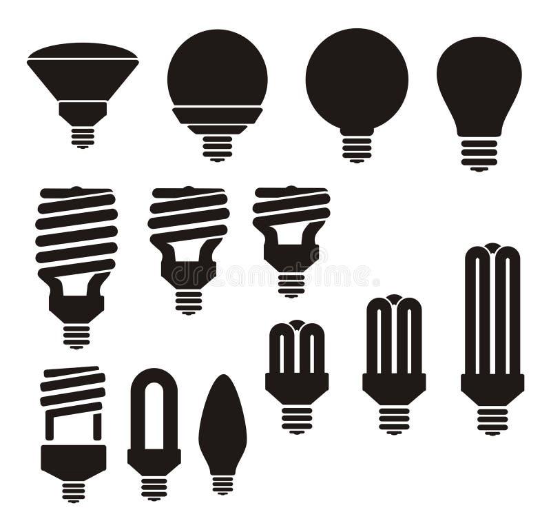 Energie - besparings gloeilamp royalty-vrije illustratie