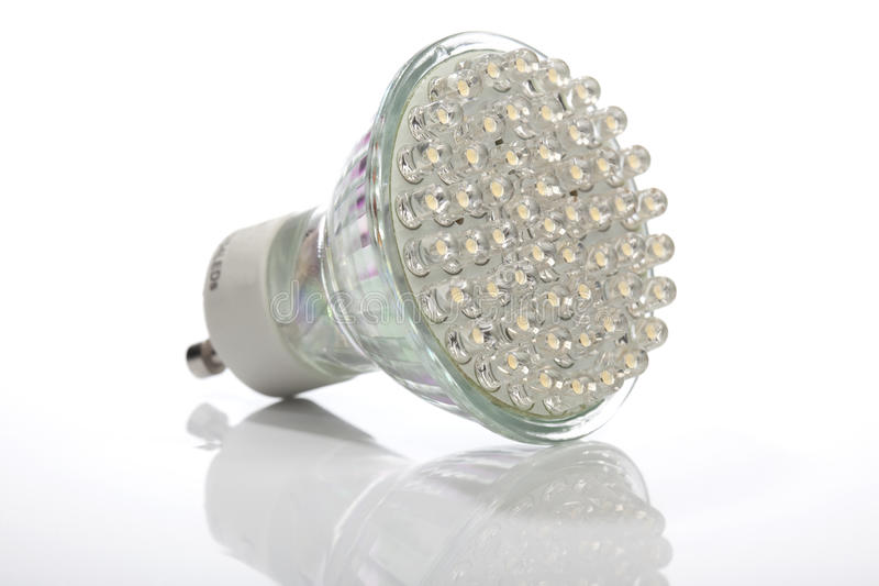 Energie - besparings LEIDENE lamp voor de vervanging van de halogeenvlek royalty-vrije stock afbeelding
