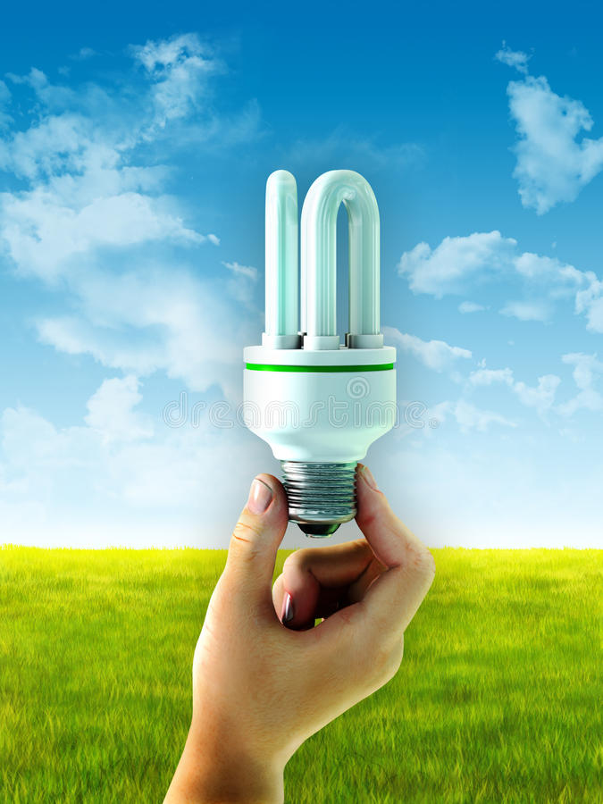 Energie - besparingsbol royalty-vrije illustratie