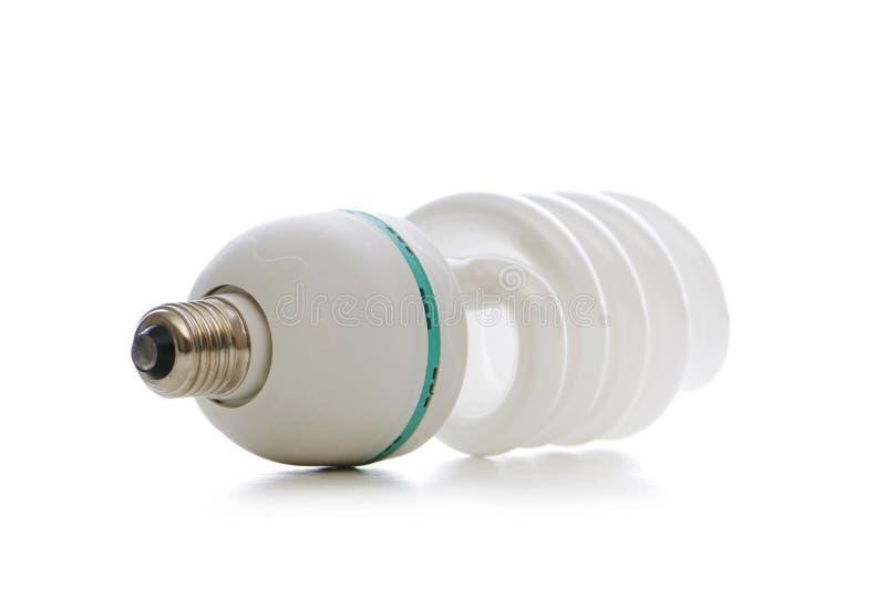 Energie - besparingslamp die op het wit wordt geïsoleerdd royalty-vrije stock fotografie