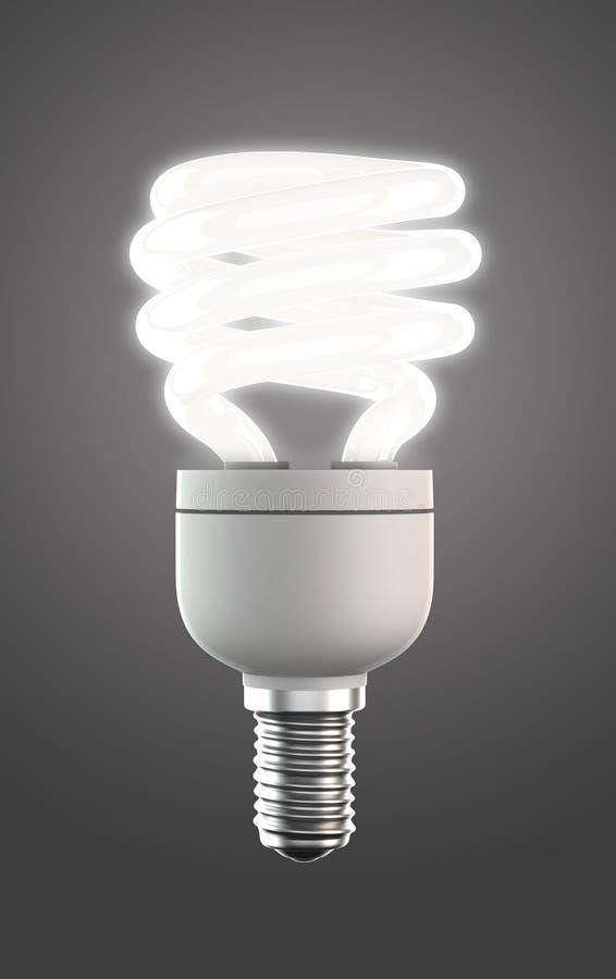 Energie - besparingslamp met het knippen van weg stock afbeeldingen