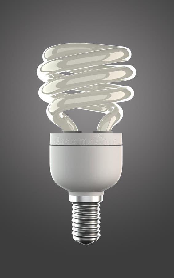 Energie - besparingslamp met het knippen van weg royalty-vrije stock fotografie