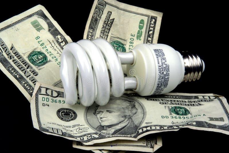 Energie - de Gloeilamp van de besparing stock afbeelding