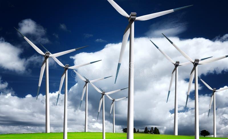 Energie del vento immagini stock libere da diritti