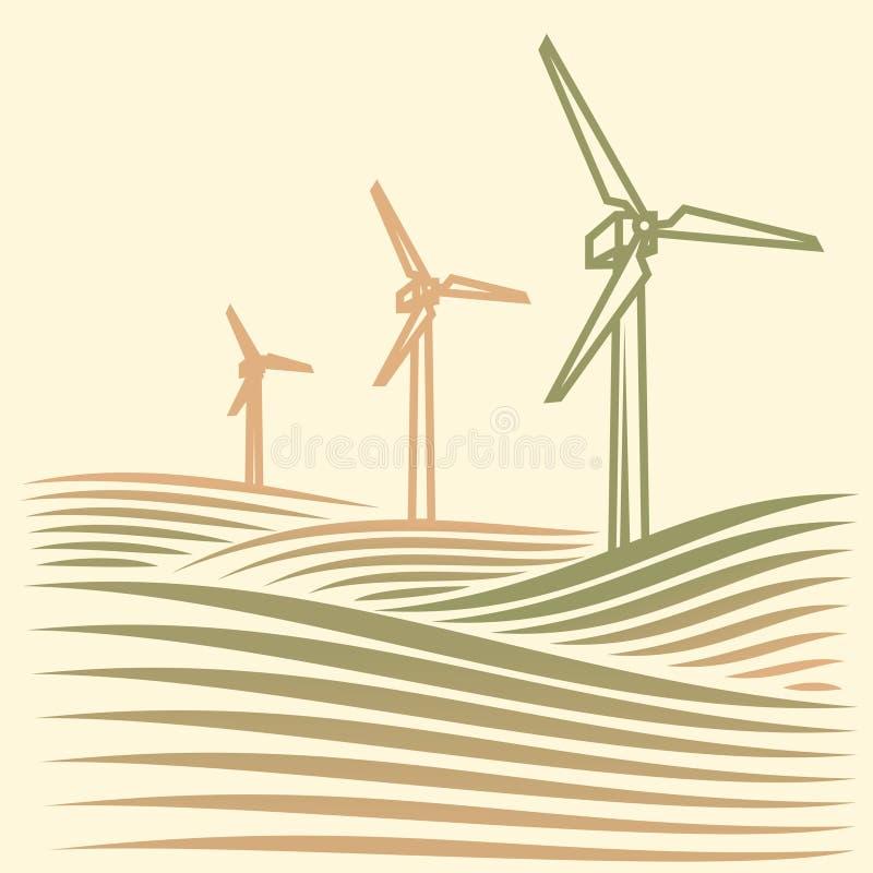Energie del vento royalty illustrazione gratis