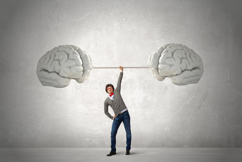 Energie in der guten Idee stockbild