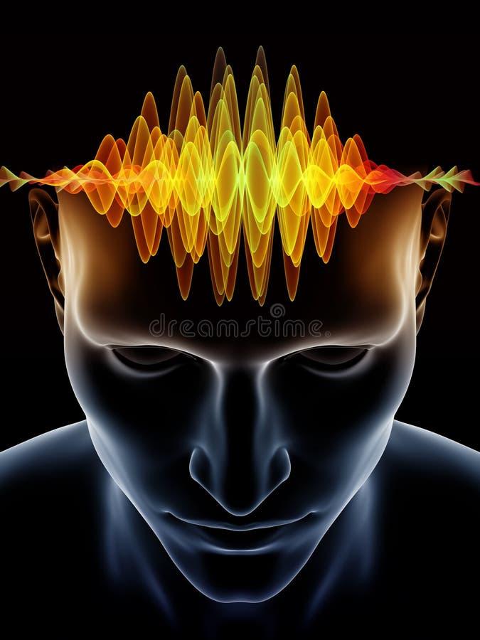 Energie des Menschenverstandes lizenzfreie abbildung