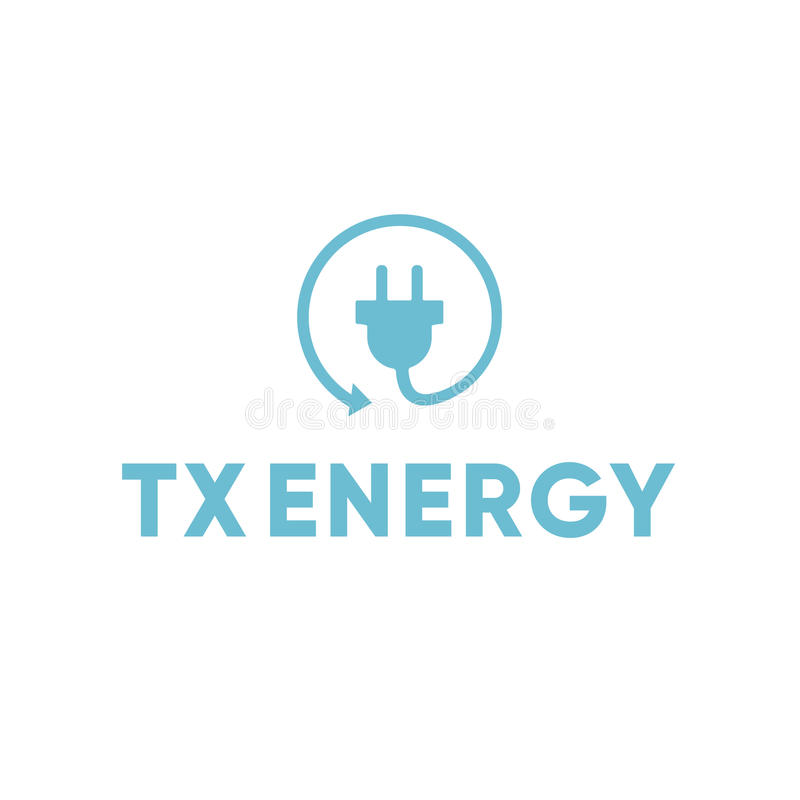 Energie-elektrischer Elektriker Recycle Plug Logo lizenzfreies stockbild