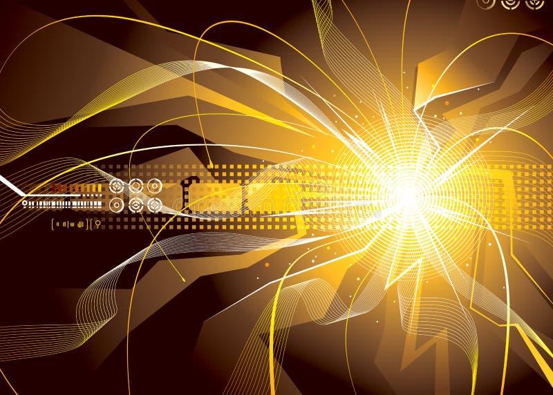 Energie-Funken stock abbildung