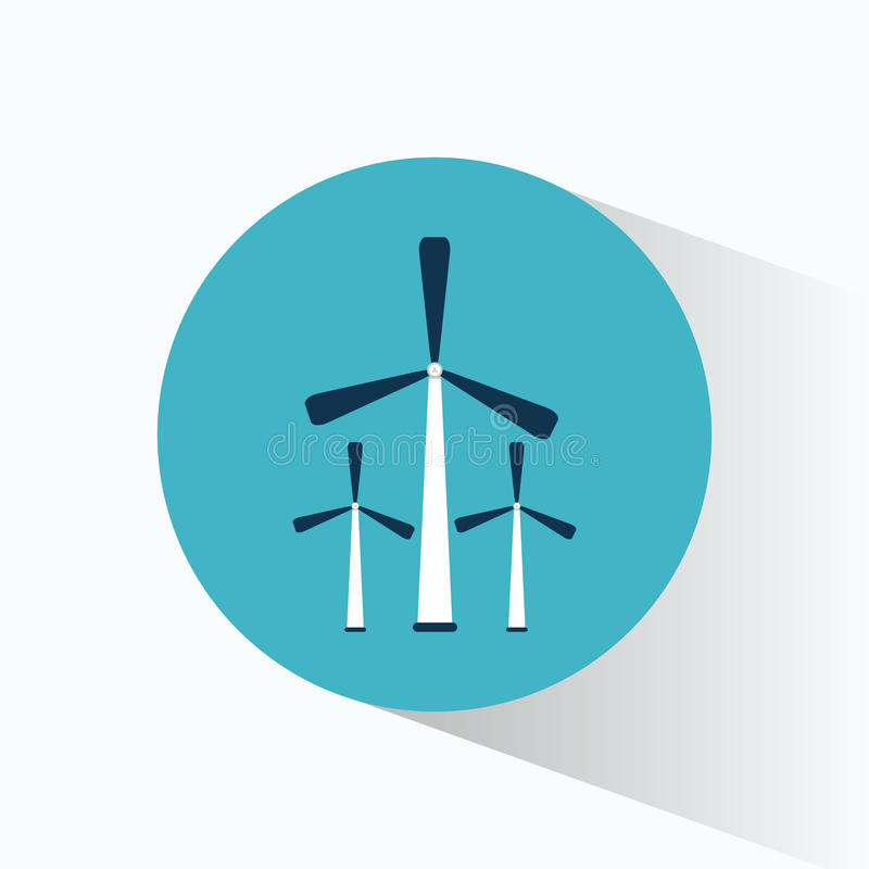 Energie-Generatorproduktion des Winds drei stock abbildung