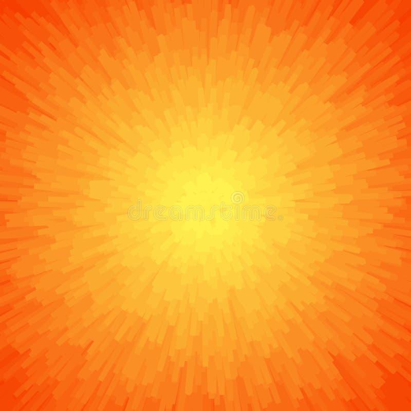 Energie-heller abstrakter Hintergrund in den orange Farben stockfoto