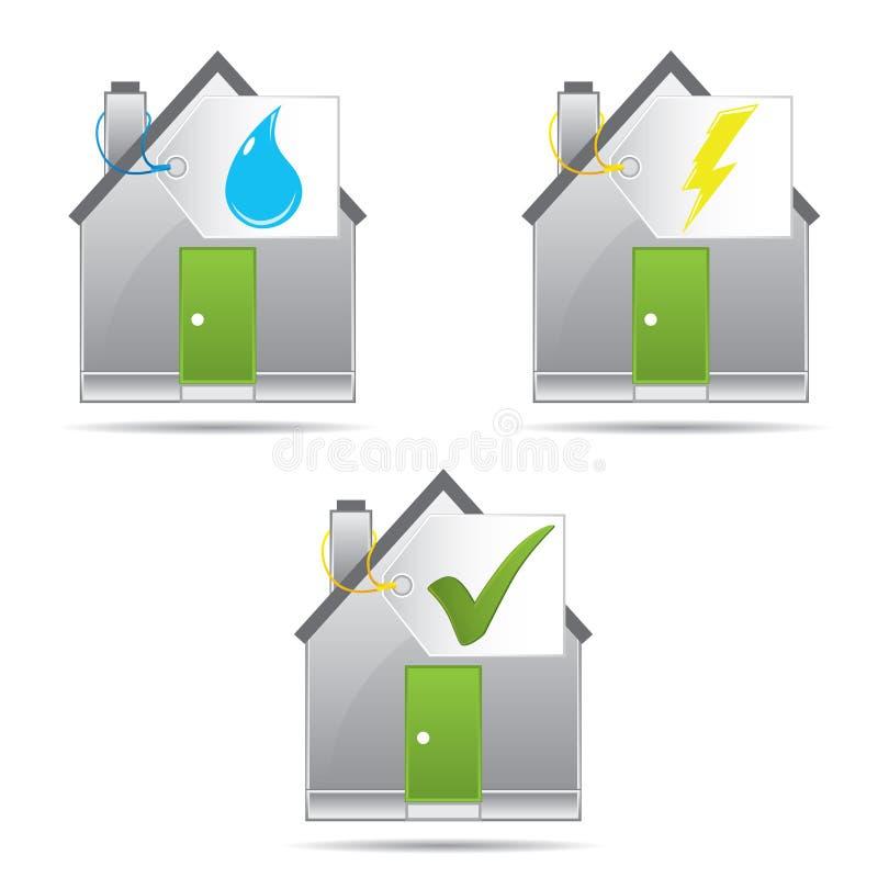 Energie - het concept van het besparingscertificaat stock illustratie