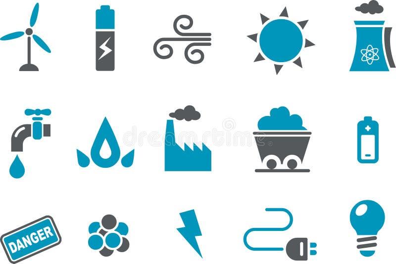 Energie-Ikonen-Set stock abbildung